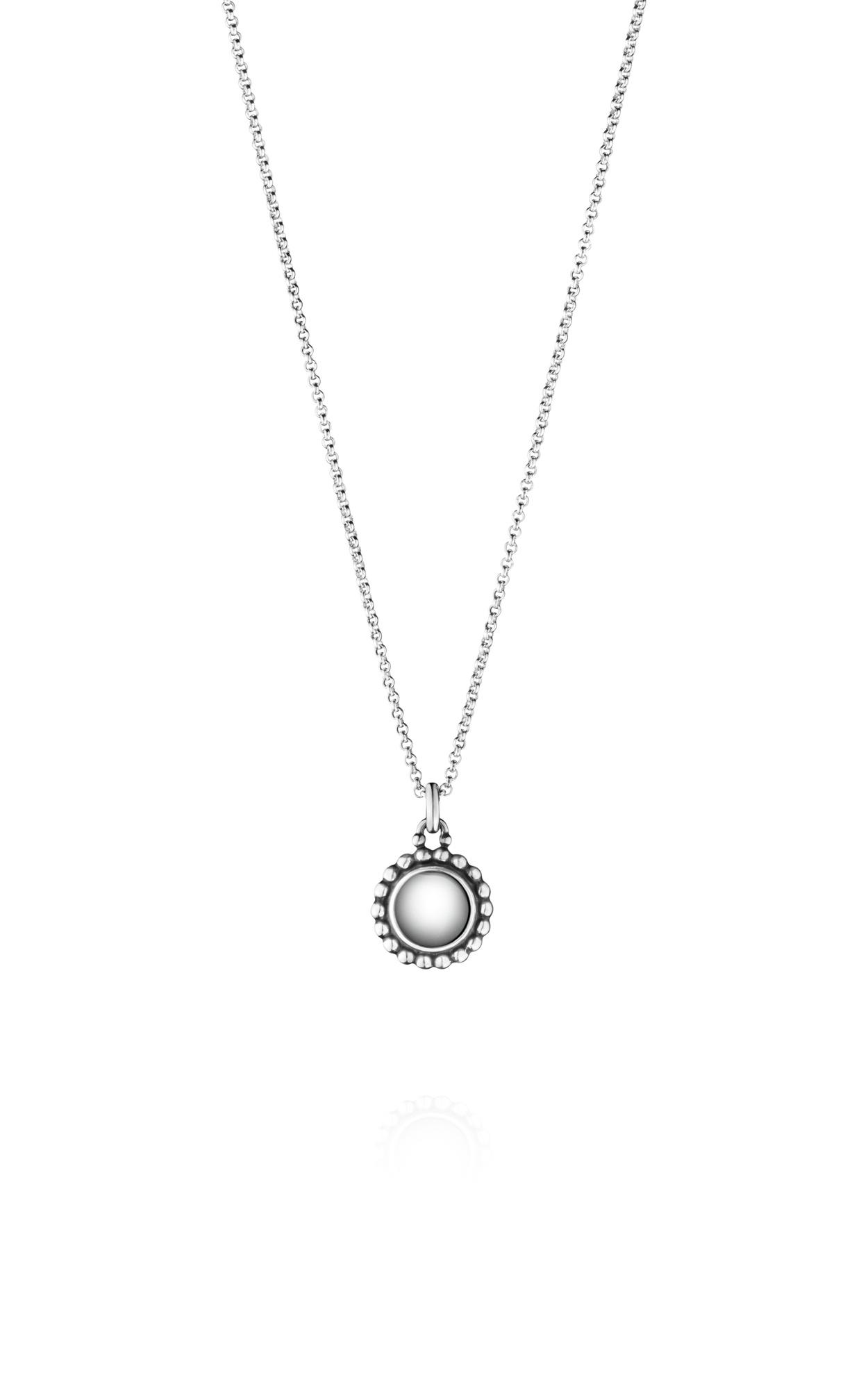 Georg Jensen moonlight blossom silver long pendant