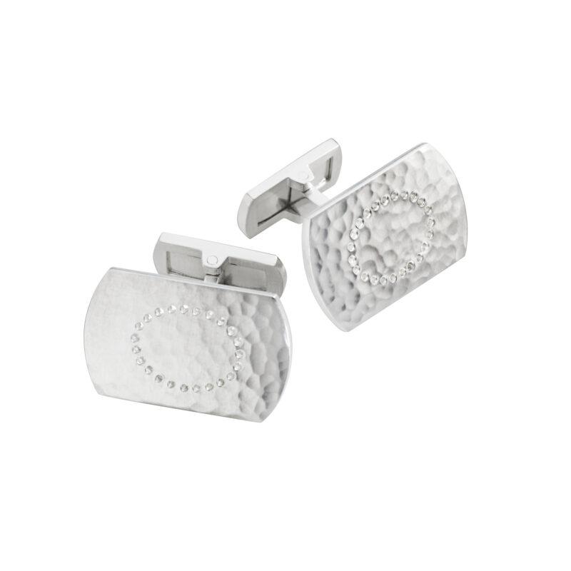 georg jensen smithy silver hammered cufflinks