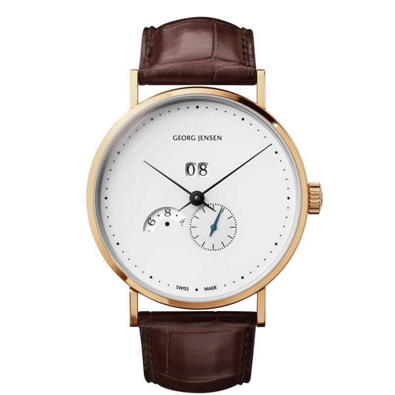 georg jensen koppel grande date annual calender gents watch