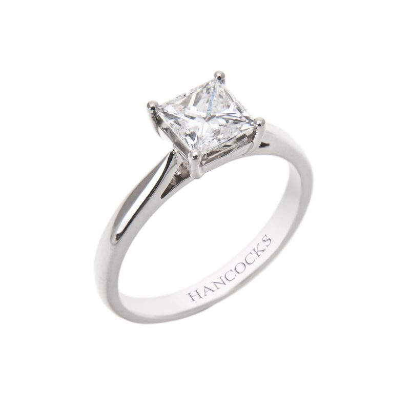 gia certificated 1 carat princess cut diamond ring 3H 40 800x800