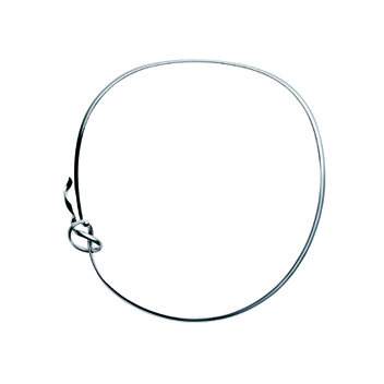 Georg Jensen forget me knot silver neckring