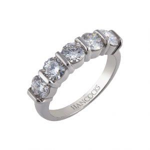 Bar Set 5-Stone Ring