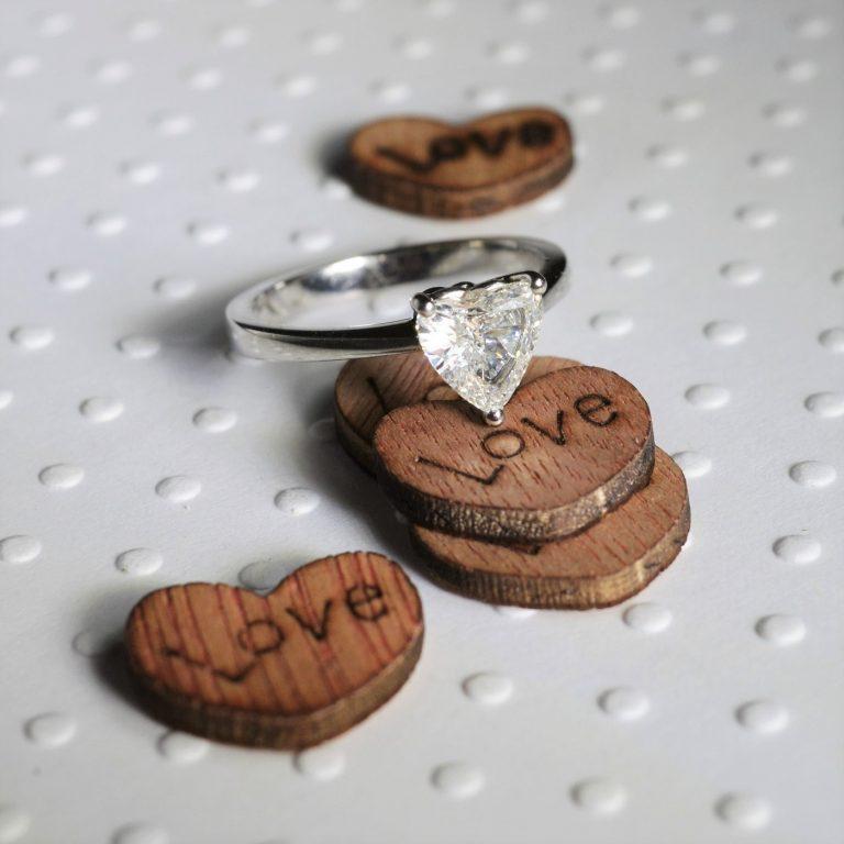 heart shaped diamond engagement ring hancocks manchester