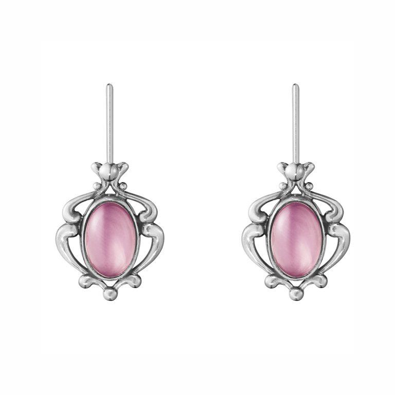 heratige rose quarts earrings