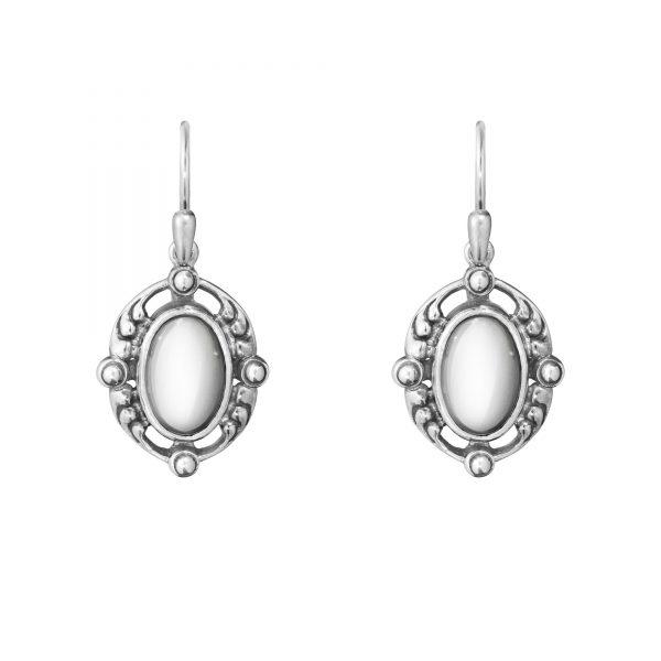 georg jensen heritage 2018 silver drop earrings
