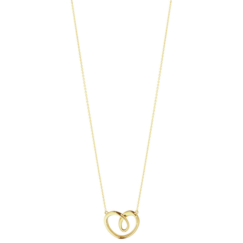 georg jesen yellow gold large heart pendant