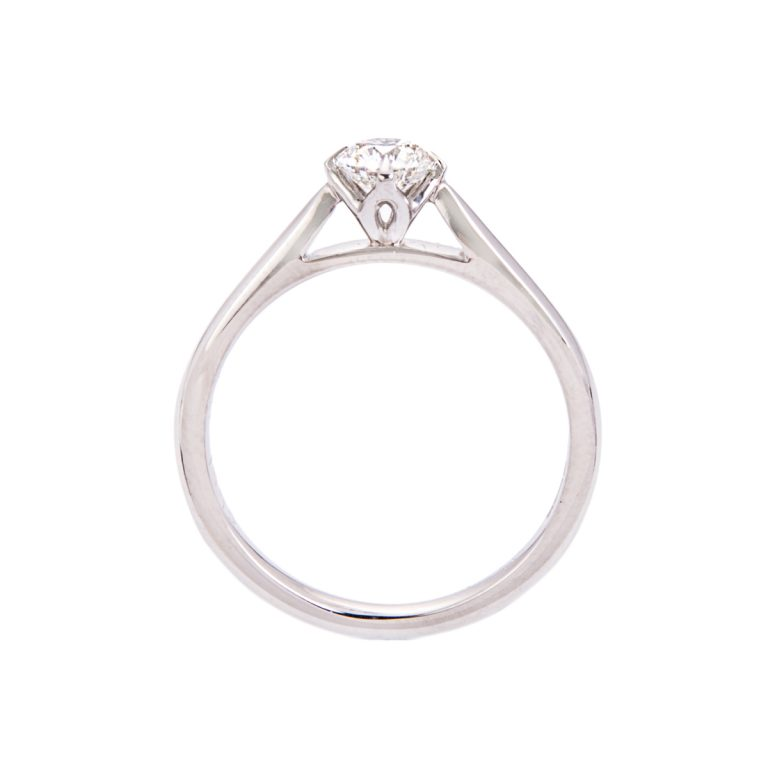 lotus design brilliant cut diamond single stone ring HC 100719 60