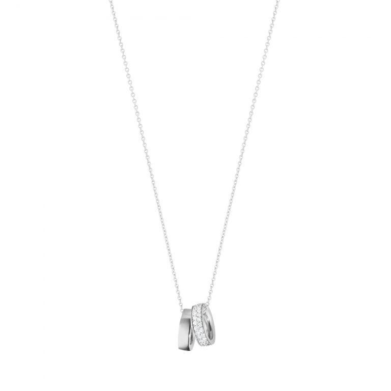magic double plain and pave diamond pendant