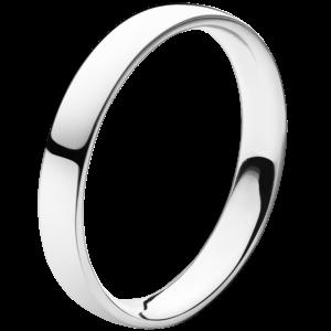 georg jensen platinum medium width wedding band