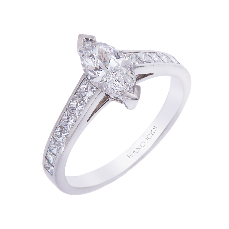 0.80ct marquise cut diamond ring