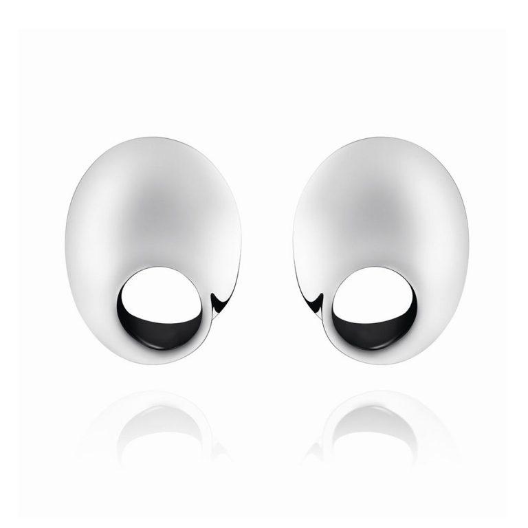 mobius silver georg jensen earrings