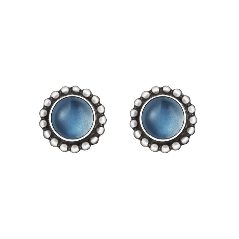 moonlight blossom moonstone studs earrings georg jensen