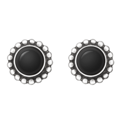 georg jensen moonlight grapes black onyx earstuds