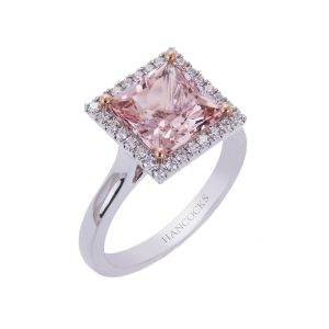 18ct-gold-square-cut-morganite-and-diamond-cluster-ring
