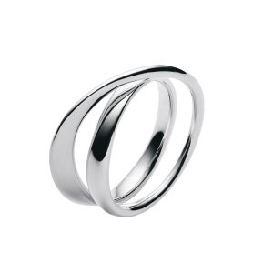 georg jensen mobius silver twist ring