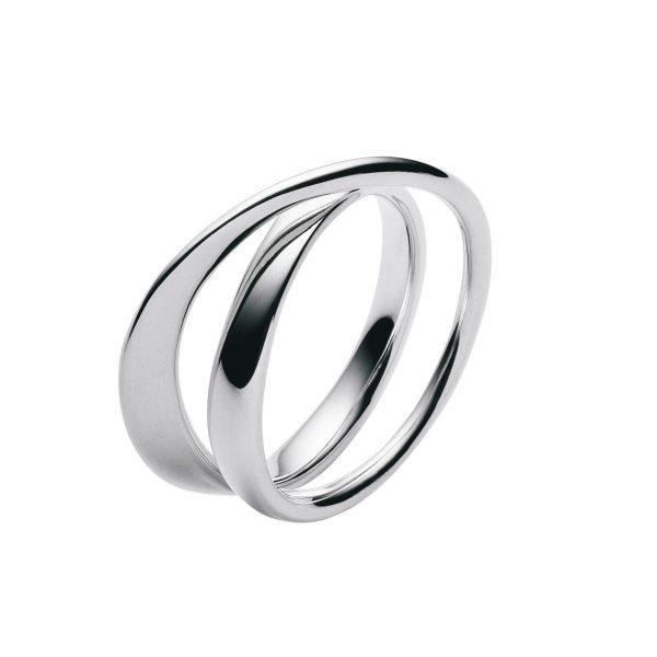 georg jensen mobius silver twist ring