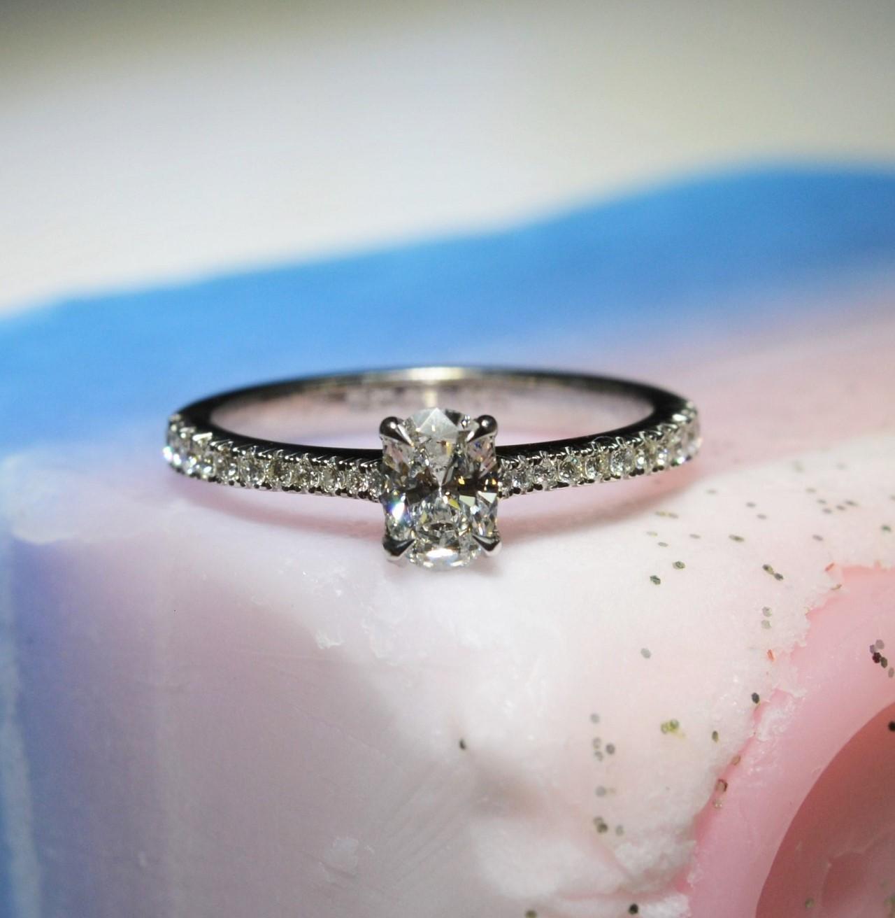 oval cut diamond engagement ring hancocks jewellers manchester