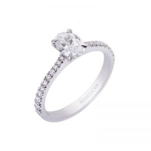 Oval Cut Diamond Single Stone Engagement Ring With Diamond Shoulders H261118 9 2 800x800 1 300x300
