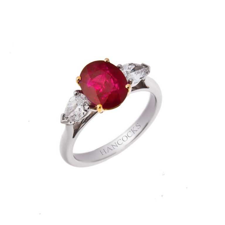 oval ruby and diamond 3 stone ring HH 17 adjusted 2