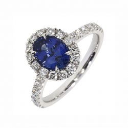 sapphire-and-diamond-cluster-ring