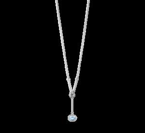 georg jensen savannah blue topaz and silver drop pendant