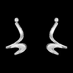 georg jensen mobius silver spiral earrings