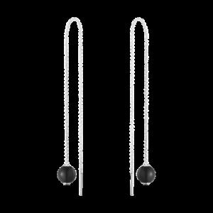 georg jensen moonlight grapes black onyx threader earrings