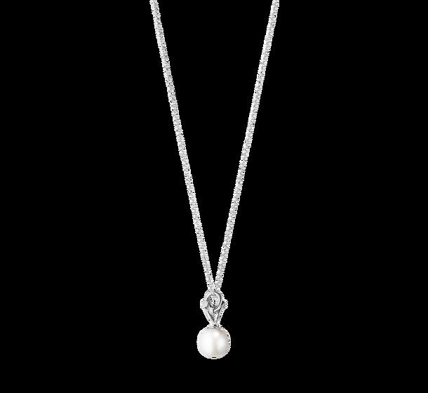 georg jensen magic white gold diamond and pearl pendant