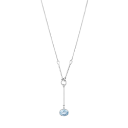 georg jensen savannah blue topaz and silver pendant