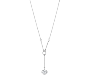 georg jensen savannah rock crystal and silver long drop pendant