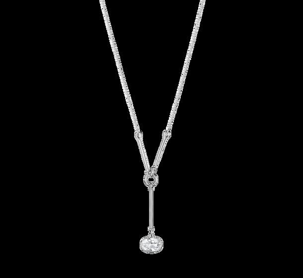 georg jensen savannah rock crystal and silver long drop pendant