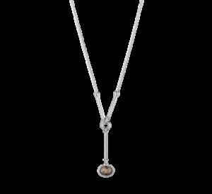 georg jensen savannah smokey quartz and silver long drop pendant