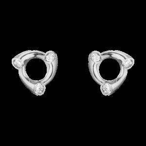 georg jensen magic white gold and diamond set stud earrings