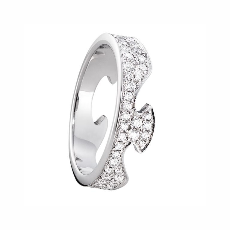 pave set diamond fusion ring
