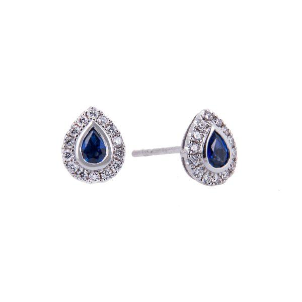 white-gold-sapphire-halo-set-earrings