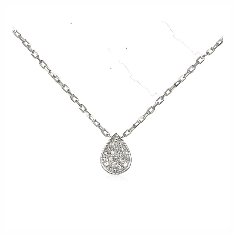 pear shaped pave set diamond pendant hancocks manchester