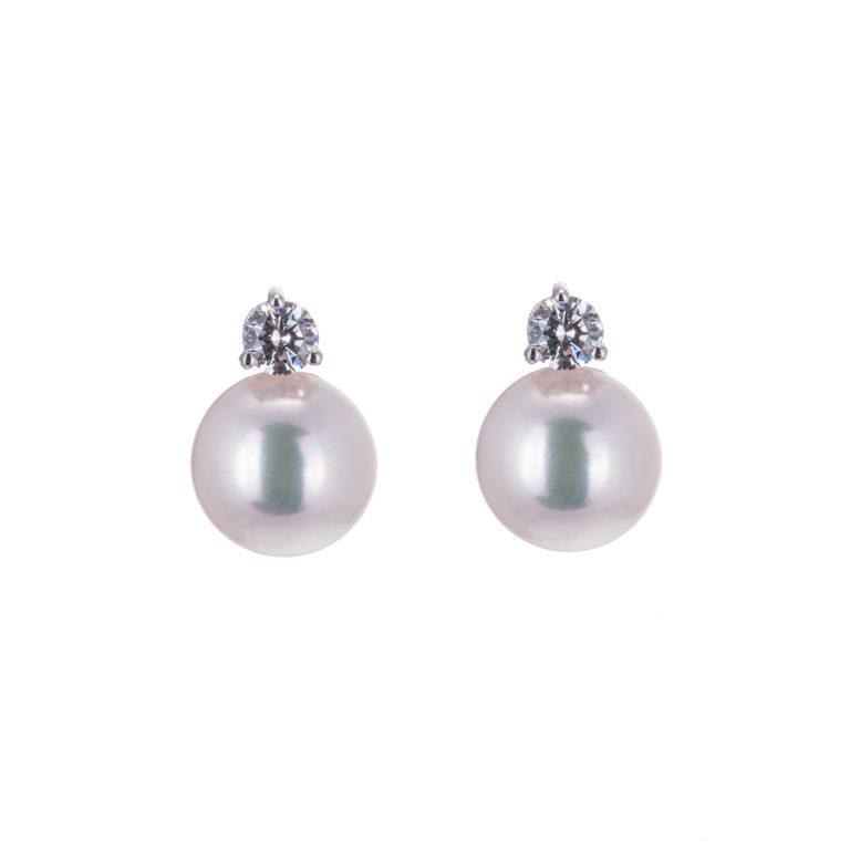 pearl and diamond stud earrings H1910 34
