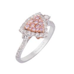pink diamond triangular cluster ring HC 100719 80