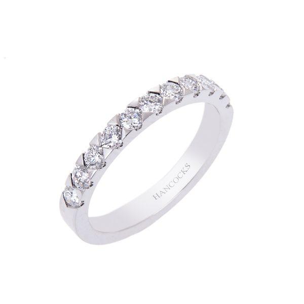 0.61ct brilliant cut diamond eternity ring