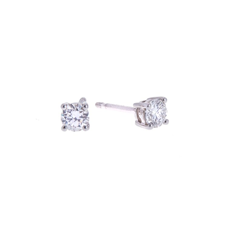 brilliant cut diamond stud earrings