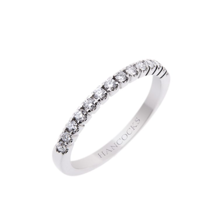 ladies diamond set wedding ring