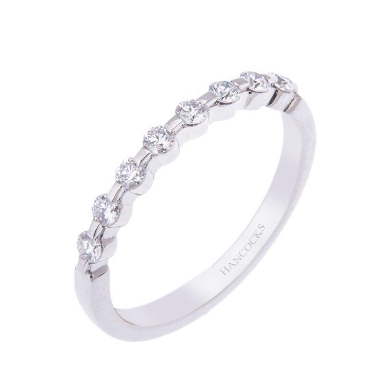 platinum diamond wedding band H1200 54