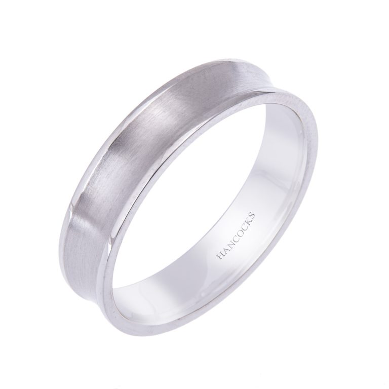 platinum gents satin texture band H1200 91