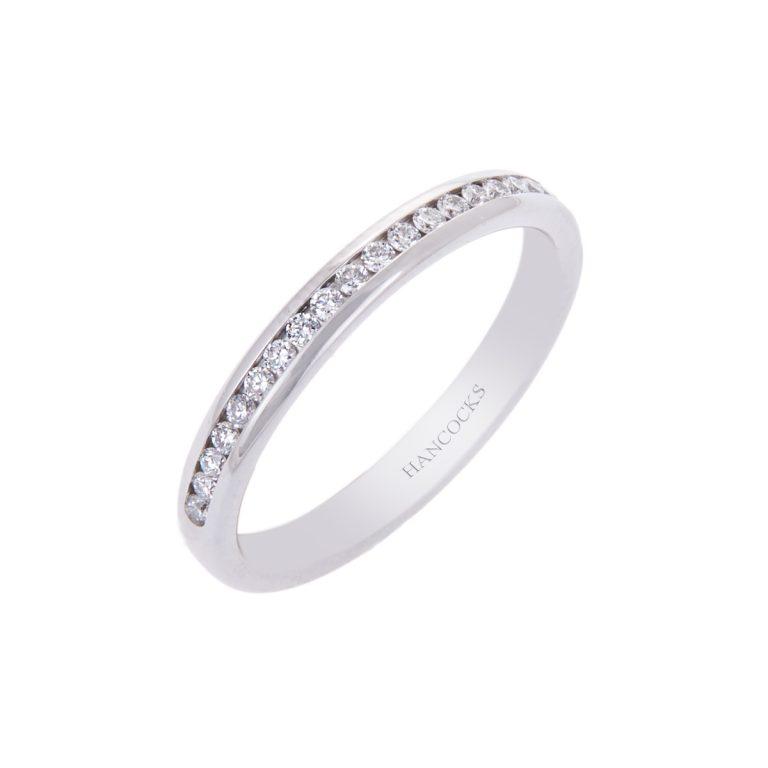 platinum ladies diamond set wedding ring hancocks manchester H1910 83