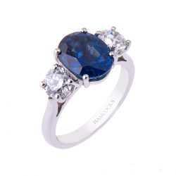 platinum-claw-set-sapphire-and-diamond-engagement-ring