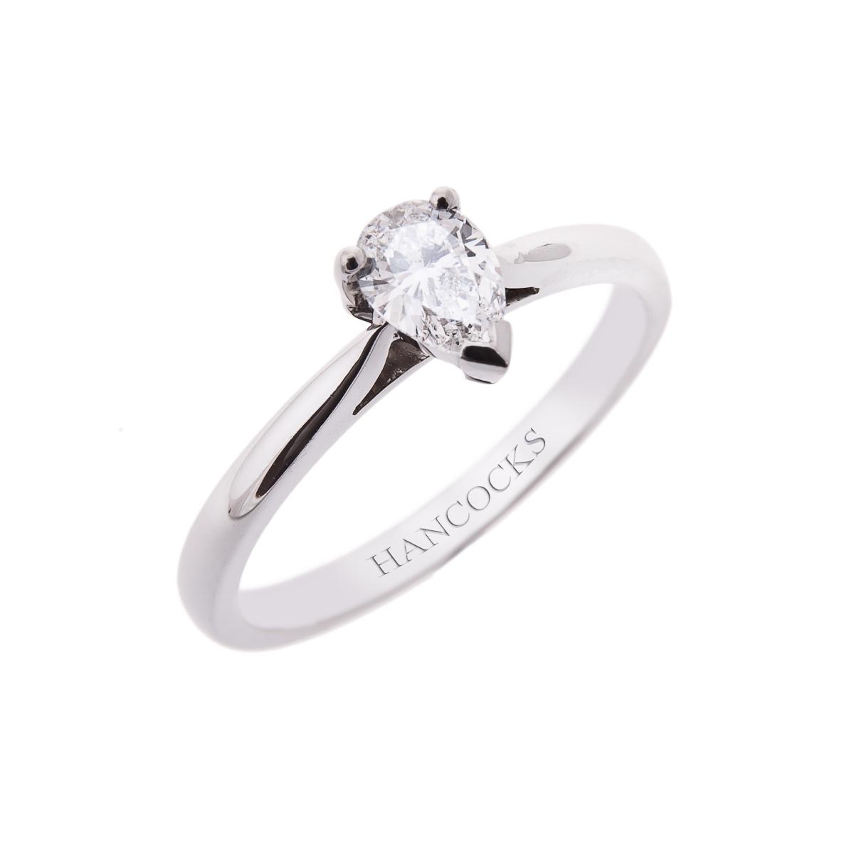 claw-set-pear-cut-diamond-single-stone-ring