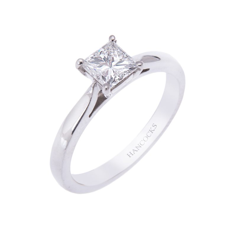 platinum princess cut diamond ring H1200 43