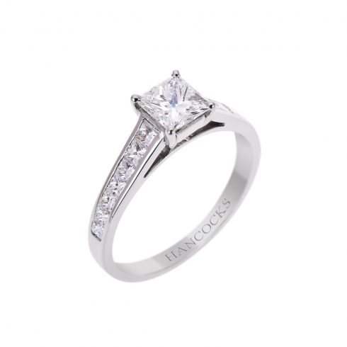 platinum-princess-cut-diamond-ring-with-diamond-set-shoulders