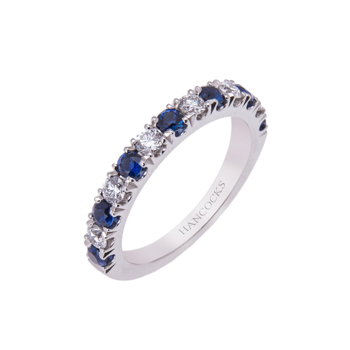 Diamond Half Eternity Ring Platinum