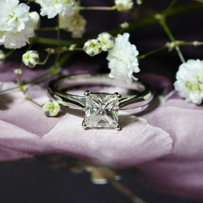 princess cut diamond engagement ring hancocks jewellers manchester